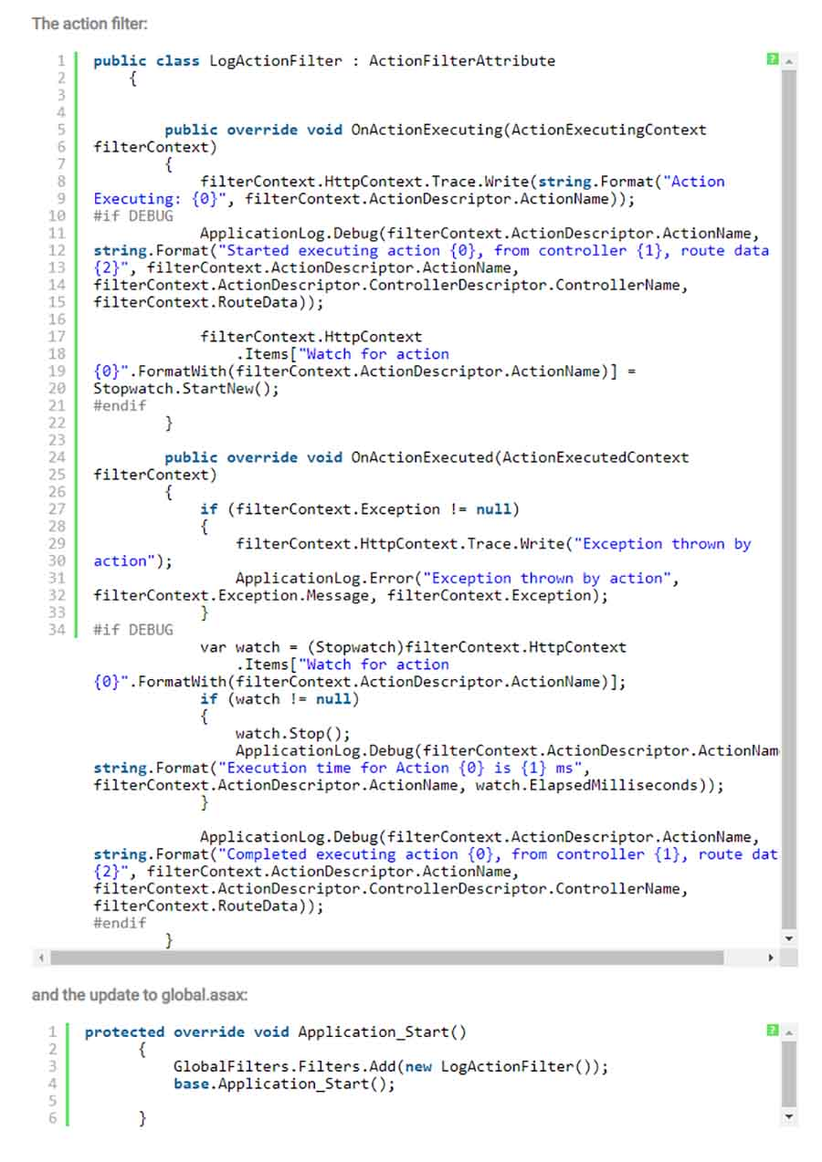 Measuring Performance of each action in MVC
