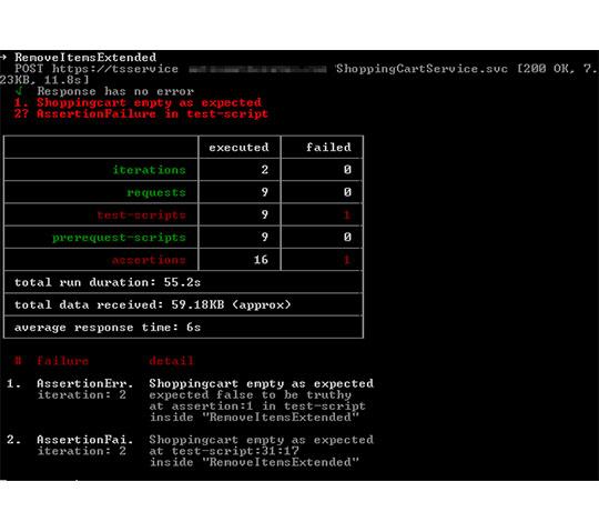 Nodejs-Newman-Running-Collection-Bail-Test-Result
