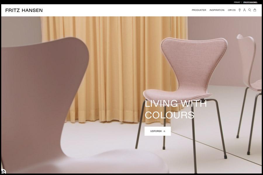Fritz Hansen website screenshot
