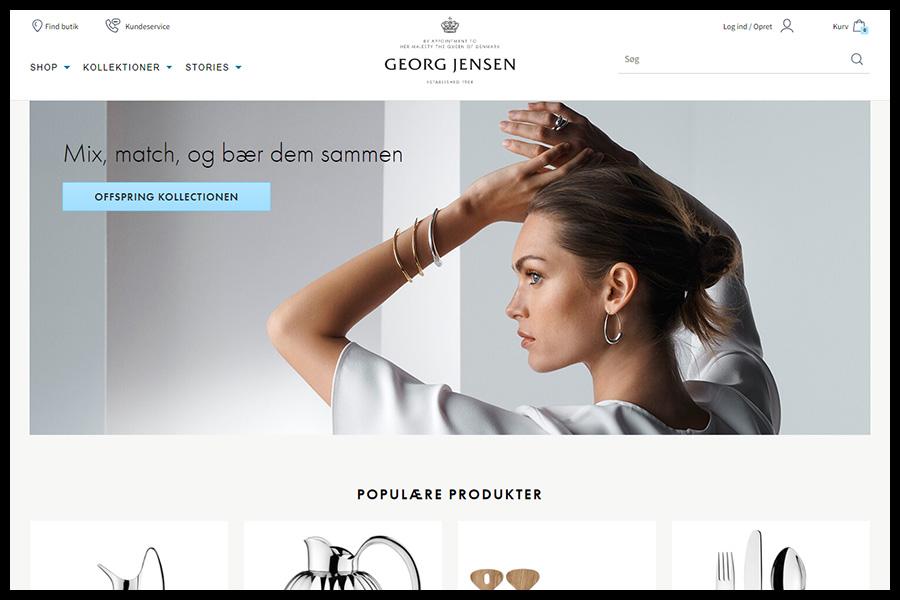 Georg Jensen screenshop - Alpha Solutions