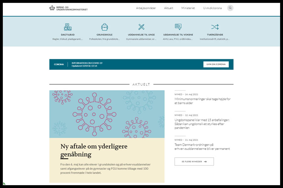 BUVM website screenshot