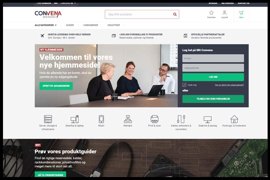 Convena Website Screenshot