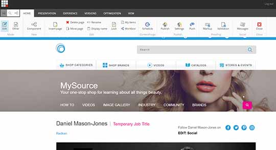 Salesforce Commerce Cloud Page in Experience Editor - Alpha Solutions