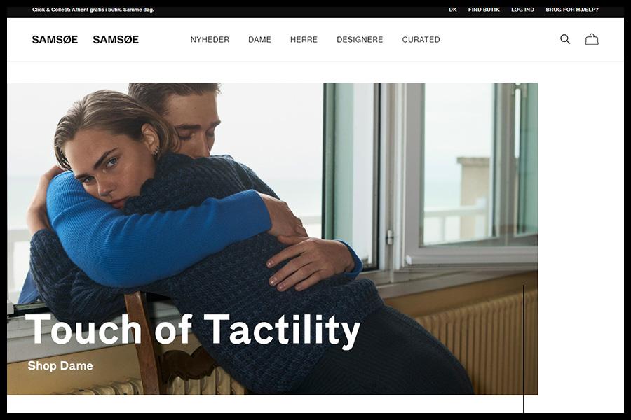 Samsoe Samsoe Website Screenshot