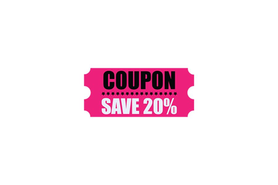 Rabatkupon - save 20%